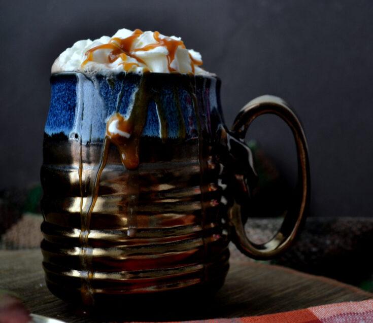 Caramel Irish Cream Hot Chocolate Autumn Cocktail