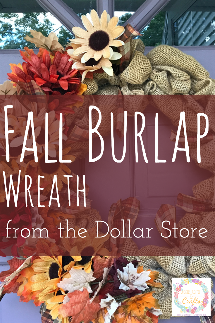 Fall Burlap Wreath from the Dollar Store
