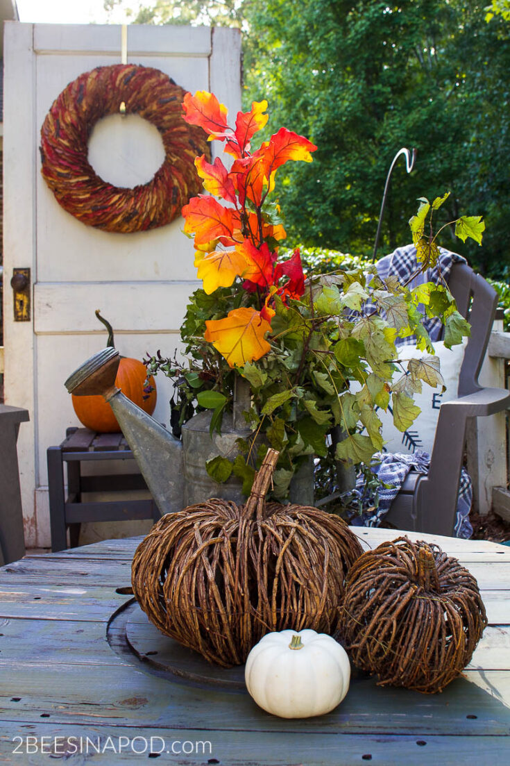 Front Porch Fall Decor - Cozy and Inviting