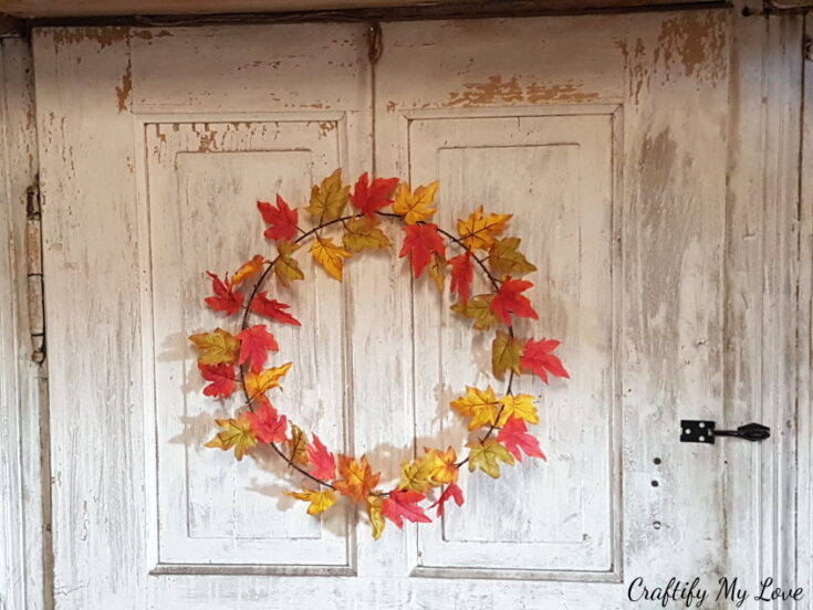 Simple & Elegant – Single Maple Leaves Fall Wreath