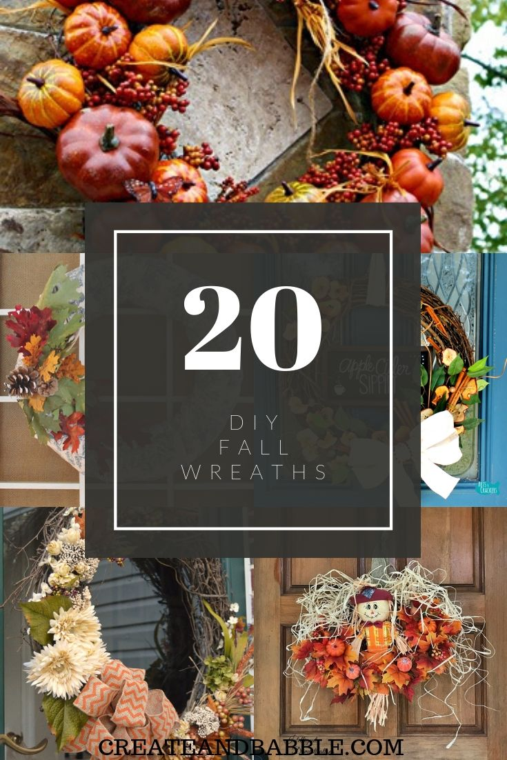 20 DIY Fall Wreaths