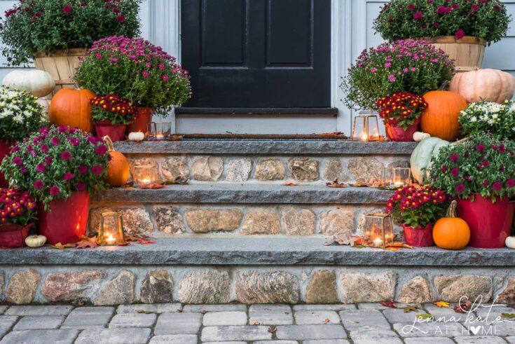 Front Porch Decor Ideas: A Classic Fall Harvest Entrance