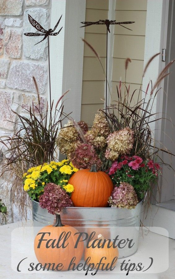 Fall Planter - reuse your grasses!