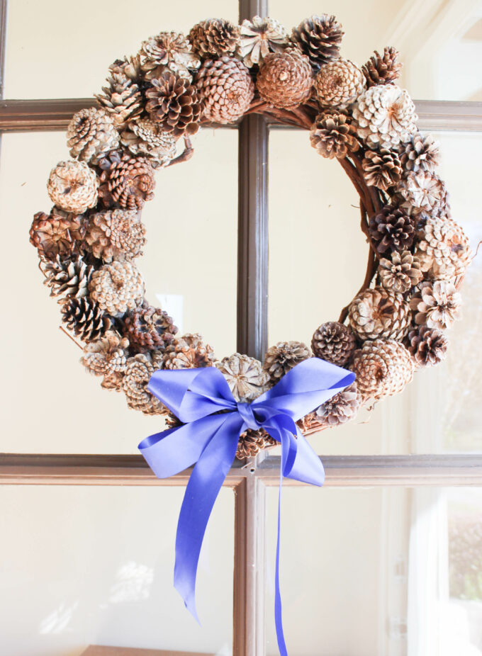 How To Make A Bleached Pinecone Wreath