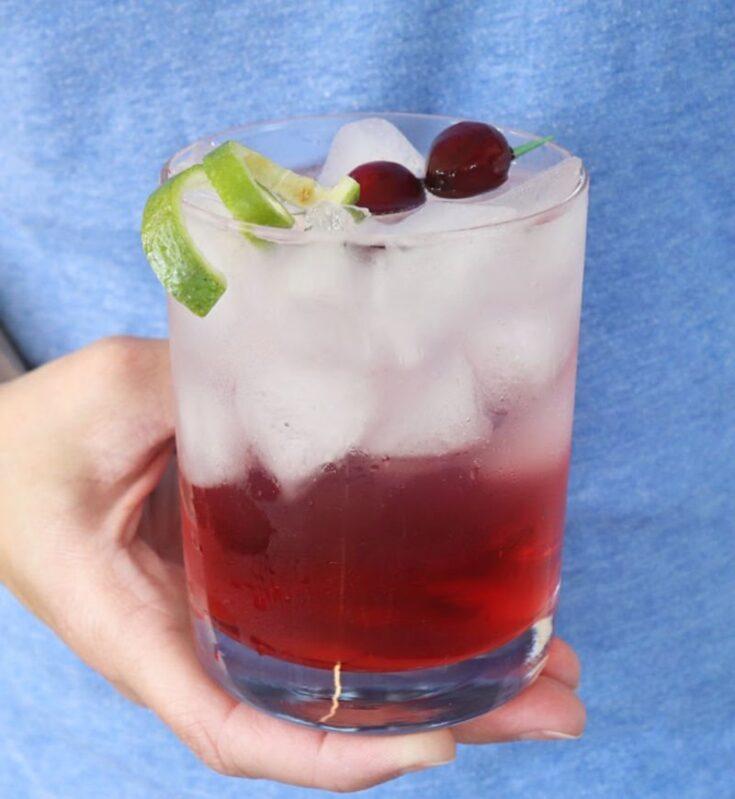 Sparkling Vodka Cranberry Cocktail