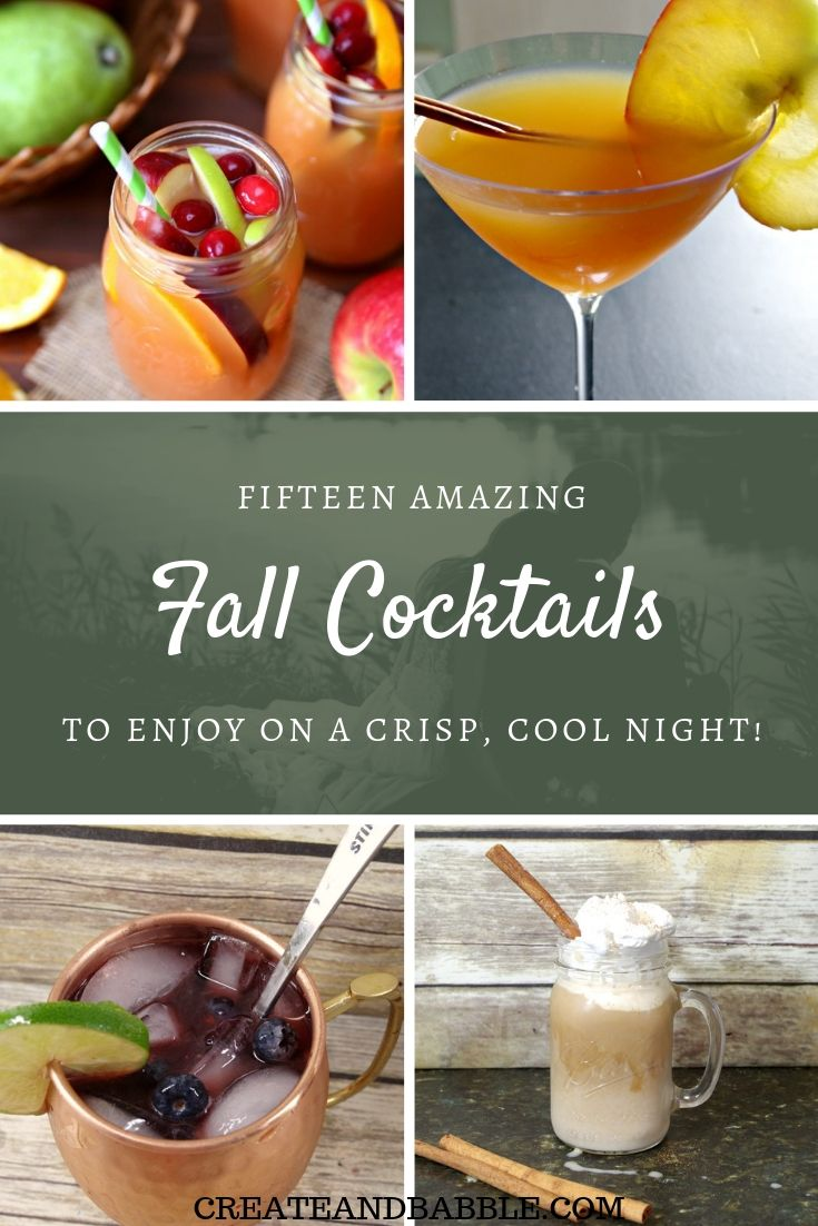 15 amazing fall cocktails collage of four