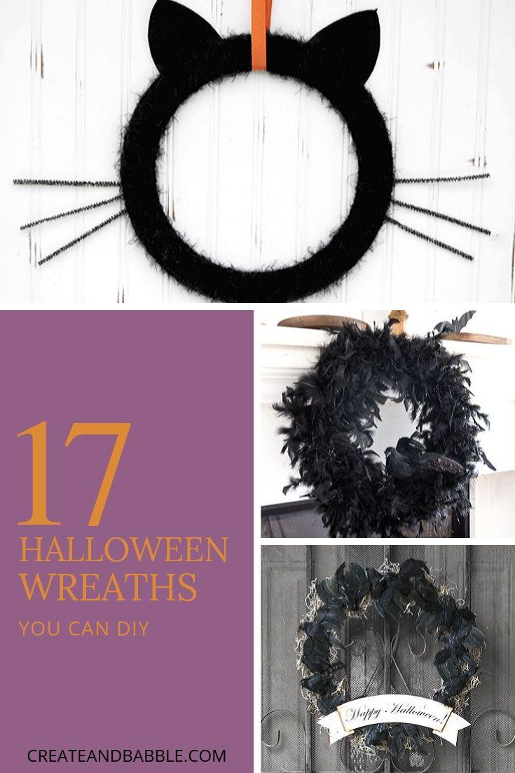 17 diy halloween wreaths