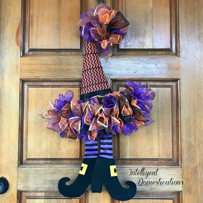 How To DIY A Witches Hat Wreath - Intelligent Domestications