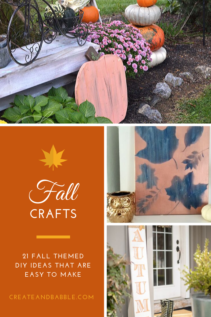 diy fall crafts collage of three