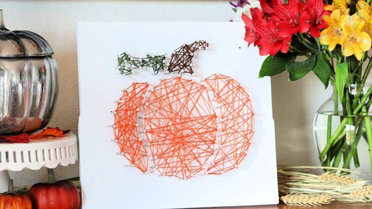Fall Pumpkin String Art - Creative Ramblings