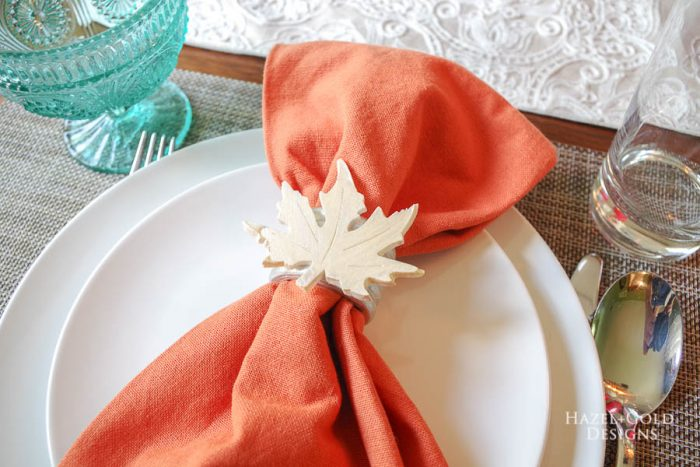 How to Make Autumn Leaf Napkin Rings
