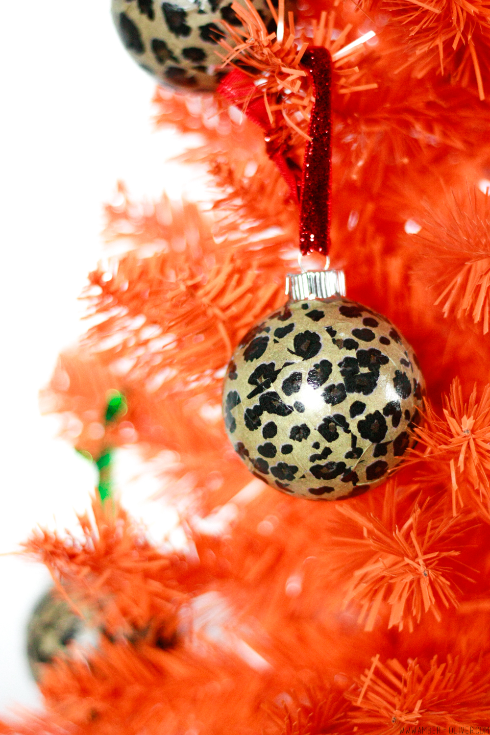 DIY Leopard Print Ornaments - Quick and easy Christmas tree decor!