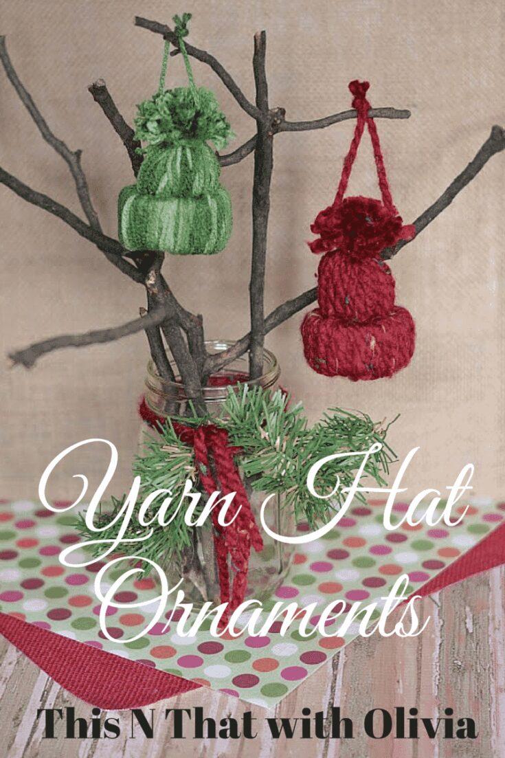 DIY Yarn Hat Ornaments! #DIY