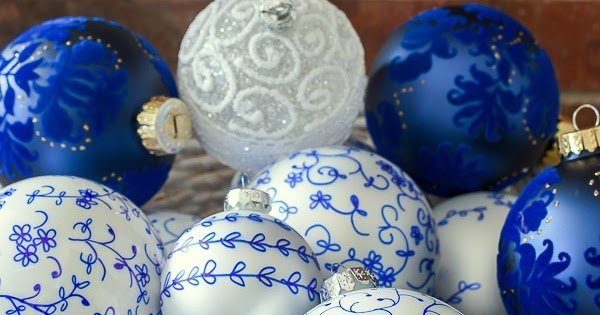 Easy Blue and White French Farmhouse Ornaments