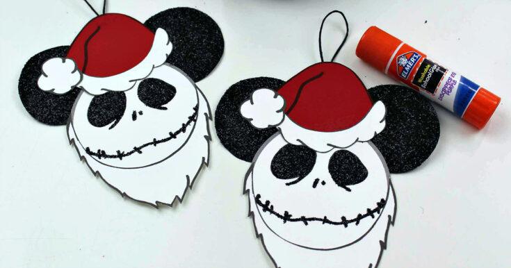 Free Printable Santa Jack Skellington Ornament Craft