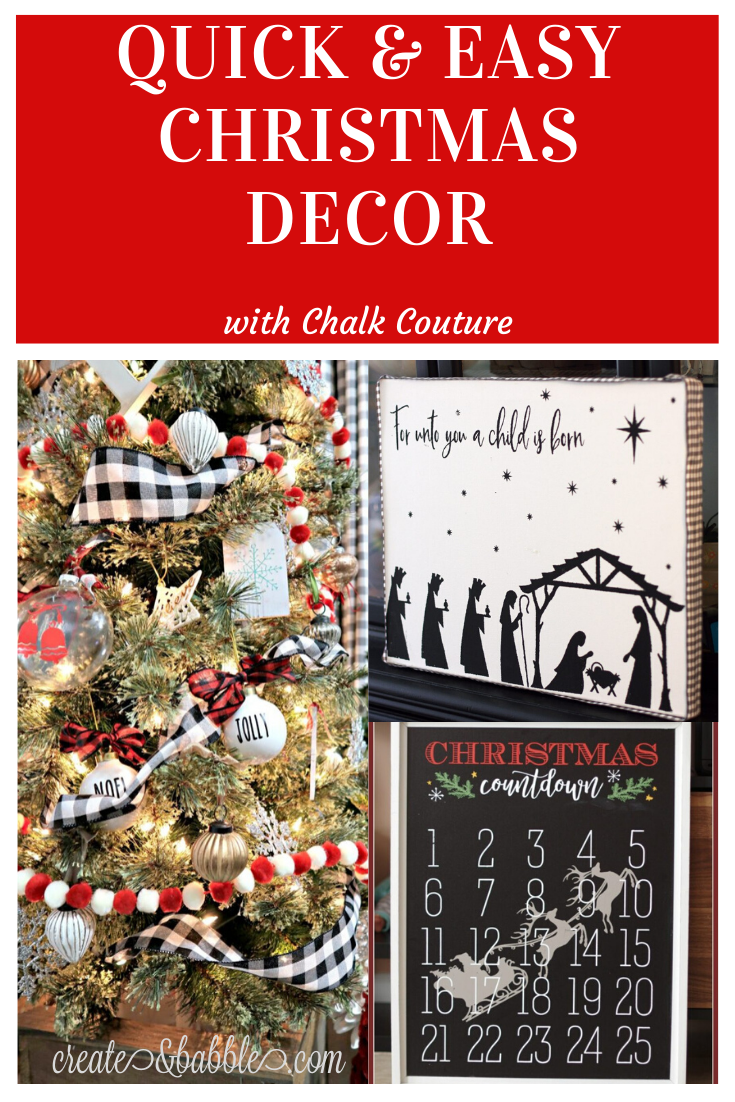 quick & easy christmas Decor pin image