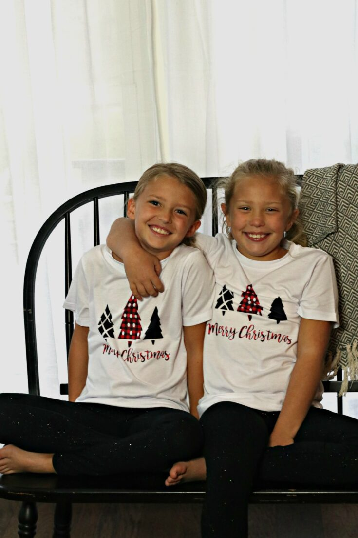 DIY Plaid Christmas Pajamas for the Family + Cricut Maker and Infusible Ink