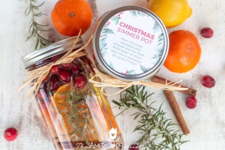 Easy DIY Christmas Simmer Pot Mason Jar Gifts