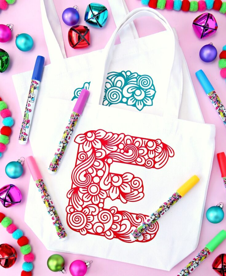 Create Personalized Color Your Own Gift Bags with the Cricut Explore Air 2