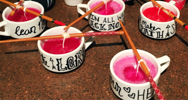 DIY Home Decor: Scented Candles in Sharpie Mugs