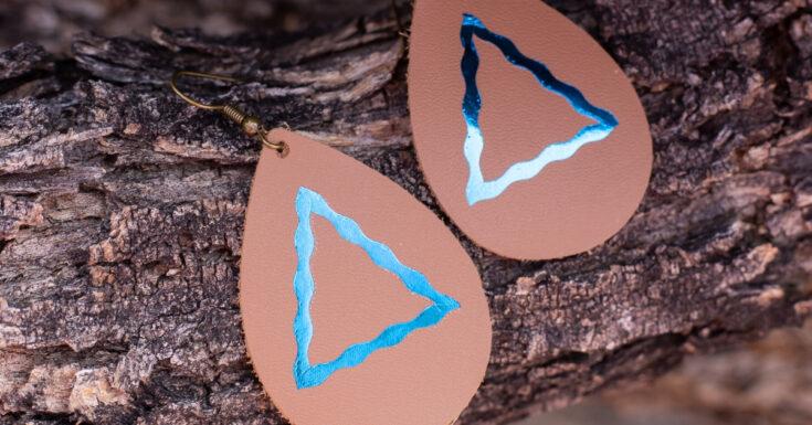 DIY Leather Earrings - Easy Personalized Earrings Using Cricut