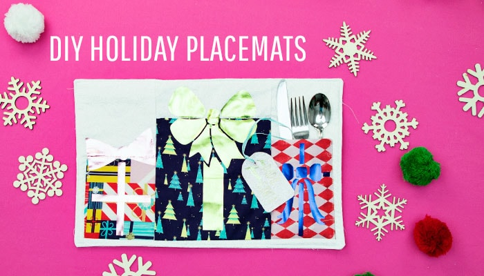 DIY Placemats for the Holidays Personalize for your Guest! ♥ Fleece Fun