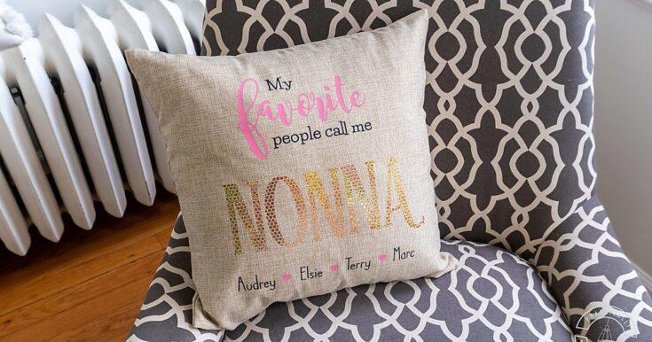 Make A Cute Personalized Grandparent Gift With A Cricut Maker!