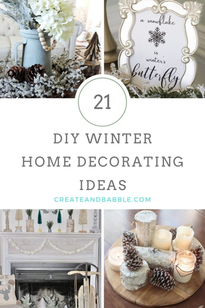 winter decorating ideas pin image