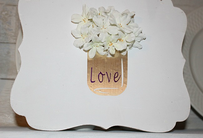Vinyl Mason Jar Valentine's Day Sign