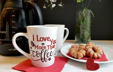 I Love You More Than Coffee Customized Mug- An Easy Cricut Craft