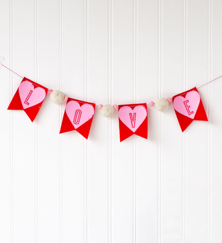 DIY Valentine's Garland with Cricut