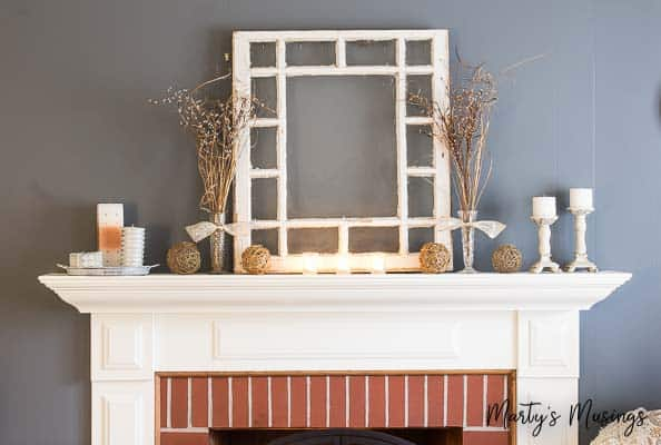 5 Tips for a Cheap and Easy Winter Mantel