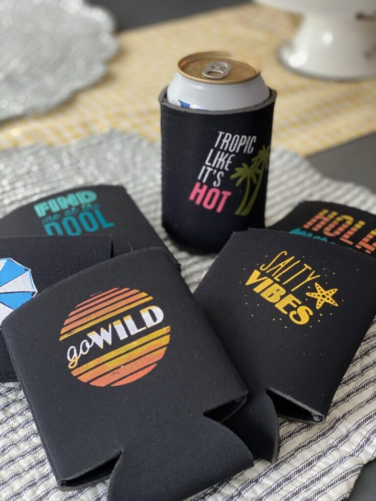 How to Make Personalized Can Koozies